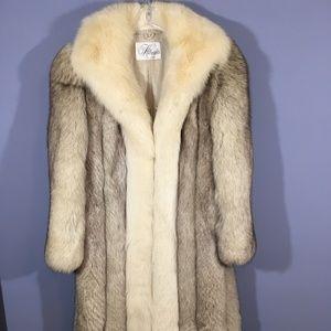 Jackets & Blazers - Stunning blue FOX fur coat Medium jacket